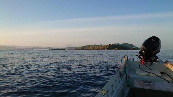 トド島からみたスコトン岬
