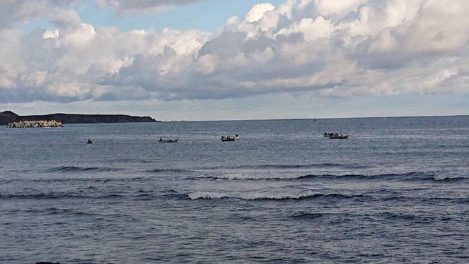 礼文島船泊あわび漁
