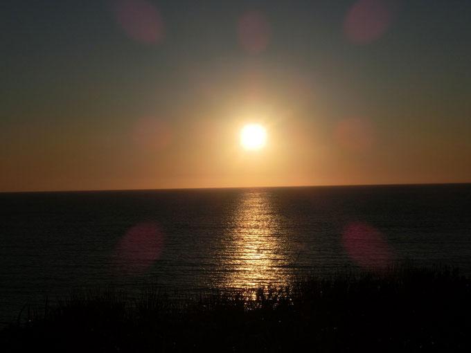 西上泊の夕日