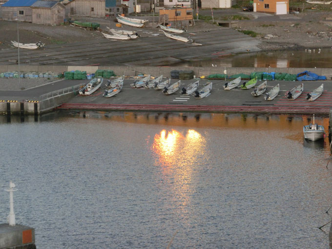 西上泊の港