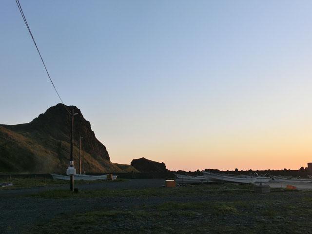 夕暮れの鉄府の浜